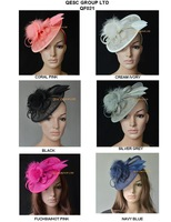 NEW ARRIVAL. Sinamay Fascinator hat for wedding,Kentucky Derby,Ascot Races,Melbourne Cup,Party.coral,silver,black,ivory color.