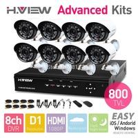 8CH CCTV System HDMI CCTV DVR 8 PCS 800TVL IR Outdoor Weatherproof CCTV Camera 24 LEDs Home Security System Surveillance Kits