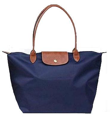 Women Leather Handle Tote Shopping Bag Nylon WaterProof Colorful Handbags New portable nylon bags dumplings shopping folding(China (Mainland))