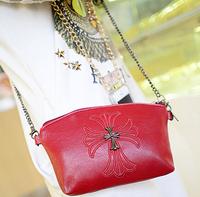 Metal cross chains pu leather women mini shouder messenger bags ladies desigual crossbody bags designer purses handbags 2014