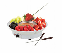 White Electric Chocolate Melting Pot Cheese Fondue Fountain Machine Set, Free Shipping, Dropshipping