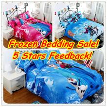 Frozen Bedding Elsa Anna Bedding for Girls 100% Cotton Frozen Duvet Cover Sheet Set Kids Bedding Pink/Blue Twin/Full/Queen/King(China (Mainland))