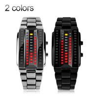 SKMEI Stainless steel watch men sport led clock hours outdoor Fashion Watch With Calendar  Quartz Analog Luxury digital Watches