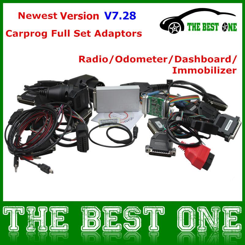 2015 Promotion ECU Programmer Car Prog Chip Tuning Airbag Reset Tool Carprog Full V7.28 Auto Repair With 21 Adaptors On Sale!(China (Mainland))