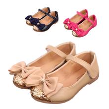 2014 summer new children's sandals children single shoes kids child shoes for girls princess bowtie sandals(China (Mainland))
