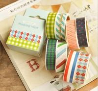 Free ship 24pcs/12box New fashion washi masking cartoon DIY tape/cute adhesive tape / DIY sticker/school supplies wholesale