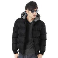 2014 new thick padded winter coat male Korean men's hooded coat jacket parkas Slim Free Shipping