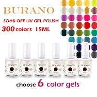 Choose 6pcs BURANO nail gel nail polish uv gel color 15ml 0.5oz 30 Days Long Lasting high quality as ibd cnd NEW