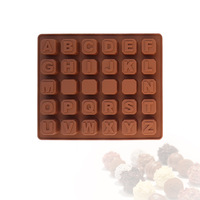Free shipping 26 Letters Of Alphabet Jelly Fondant Cake Chocolate Mold Silicone Tool Baking Pan Bakeware