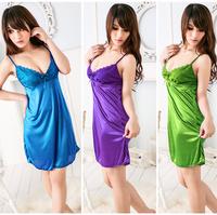 Plus Size Lace Fanasias Sexy Lingerie Dress Underwear Babydoll Women Sleepwear Pyjamas Erotic Apparel Free Shipping A3731