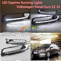 2x White LED DRL Daytime Running Light  Fog Lamp cover for Volkswagen PASSAT B7 Euro Model 2012 2013 2014