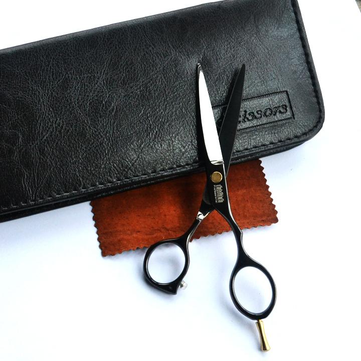 Hair scissors cutting black titanium professional hair scissors set high quality hair salon product hot sale gift for you(China (Mainland))