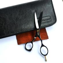 Tesoura de corte de cabelo de titânio preto professional set tesoura cabelo de alta qualidade cabelo produto salão de beleza dom venda quente para você(China (Mainland))