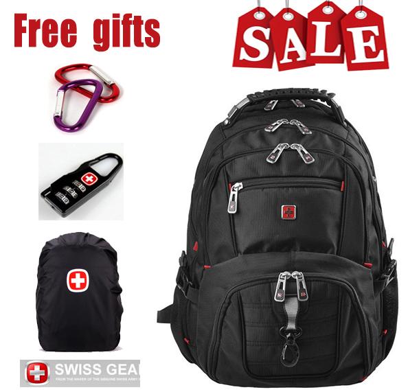 """2014 nuovo marchio a caldo zaino swissgear 15,6""""computer portatile sacchetto di uomini di sport zaino scuola zaino business borsa del computer"""