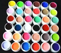 36 Colors /set Pure Colour uv gel Nail Art Tips Shiny Cover Extension Manicure
