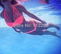 New Hot Sale Europe Women's Bandage Bikini Set Push-up Padded Swimsuit Strappy Halter Top Rope Swimwear