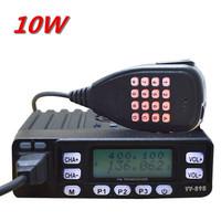 Free Shipping 10W Dual Band Mobile 2 Way Radio+Dual Reception/Dual Display+Scrambler+Programming Cable and Software