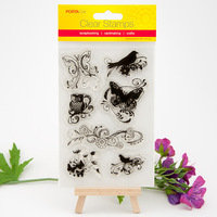 10*15cm Transparent Silicone Bird Stamp/Seal for DIY scrapbook/photo album Decorative clear stamp sheets