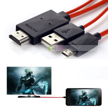 2M 1080P Micro USB MHL to HDMI Cable Adapter HDTV for Samsung Galaxy S3 SIII S4 S5 Note 2 Note 3 N7100 N9000 Free shipping(China (Mainland))
