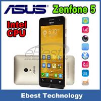 "Original ASUS ZenFone 5 Dual Core Android 4.4.2 Cell Phones 5"" IPS Corning Gorilla Dual Sim 8MP Camera 16GB ROM WCDMA GPS phone"