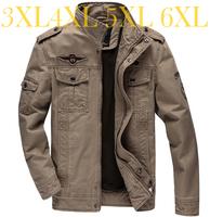 Casual jacket Men coat Fashion Military Outdoors High quality Stand collar Free shipping 2014 Autumn Plus size Black Khaki green