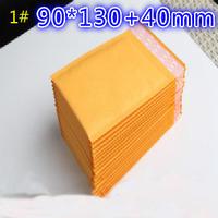 100pcs 2015 NEW 001 bubble envelope kraft bubble film bags yellow bubble envelope bag 90*130mm Wholesale