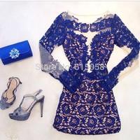 Vestidos Femininos 2015 Women Winter Long Sleeves Lace Casual Dress Ladies Vestidos Verao Plus Size XXL