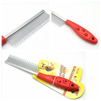 choose Pet Dog Cat Steel Long Short Teeth Multi-purpose Comb Fur Comb Grooming Tool MB10E