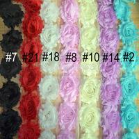 "Shabby Chiffon Frayed Flower ,Headband Flower ,Women Clothing Folower Accessories 80yards 2.5"""