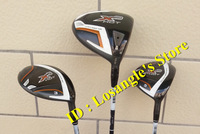 2014 New X2 HOT Golf Wood Set Driver 10.5 Loft And Fairway Wood #3#5 With X 2 HOT Graphite R Flex Shafts Golf Clubs 3pcs