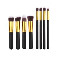 Makeup Brushes Kit Set Wooden Makeup tool 8PCS Makeup Brushes Cosmetics Foundation Blending Makeup Brush , Free shipping