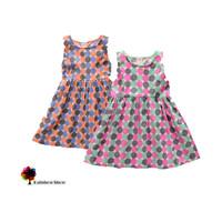 New Children Clothing Summer Girls Dot Circle Cotton  Dress Sleeveless Vest Children Dress