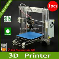 DHL Free Shipping New Reprap Prusa I3 3D Printer 3 D Model Printer  DIY KIT High Accuracy Acrylic Frame