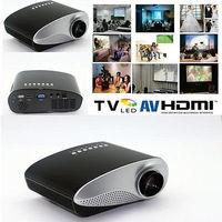 Best Price 200lumens LED Electric Zoom Portable Video Pico Micro Small Mini Projector HDMI USB AV VGA TV Tuner Tripod