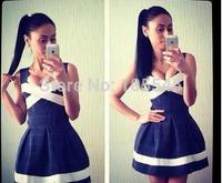 2014 new love girl fashion Strap bandage fashion party dress  83cm long