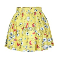 Free Shipping Women Girl's Summer Dress Sexy Stylish Pattern Print Elastic Waist Short Mini chiffon Skirt 15 Colors b6 SV004587
