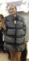 2014 long design female raccoon fox fur coat leather outerwear plus size fur overcoat women coat