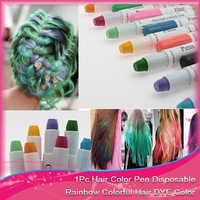 Fashion1pcs/lot  Easy Temporary  Non-toxic Hair Chalk Dye Hair Extension Kit Chalk Pastel Hair color 12 colors available