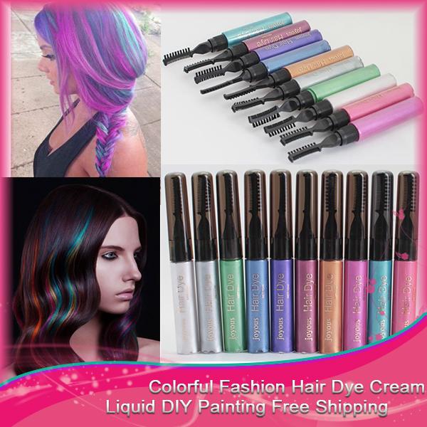 1PC/set Hair Color Hair Dye Color Easy Temporary Non-toxic DIY Hair Mascara Color Hair Cream Crayon Professional(China (Mainland))