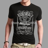 Stylish Cool Heisenberg T Shirt Summer Style Breaking Bad t-shirts for Men Custom Design Logo Black Tee shirts