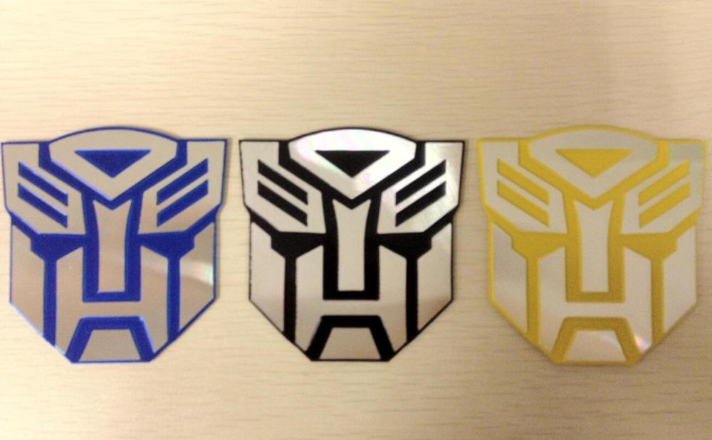 1 pcs Good quality Metalic Car Sticker Decor Styling Cool 3D Autobot Decept