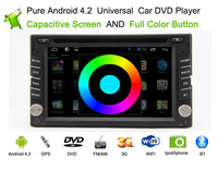 Free Shipping, Android 4.2  Car DVD Player+Stereo+GPS Navigation+Bluetooth+Steering wheel control+USB support over 1T,  HOT SELL
