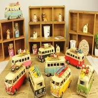 Creative Home Decor Hand Made Metal Crafts Car Model Classic Bus Model Classic Car Gift Home Decoration Free Shipping!