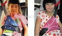2 pcs/Lot  free shipping children car safety belt adjuster/ baby auto seatbelt positioner 2 colors