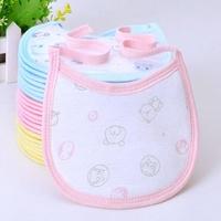 Free shipping 10pc/lot 100% Cotton Baby Girl Boy Saliva Towel Kids Cartoon Pattern 3 Layer Toddler Lunch Bibs Burp Cloths
