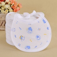 Free Shipping 2014 Hot Sale 10pc/lot Pure Cotton Waterproof Saliva Towel Newborn Baby Bib Aprons