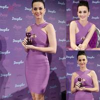 2014 New Stylish Victoria Celebrity Purple Bodycon Bandage Dresses Online Graceful Evening Vestidos for Sale LC28134