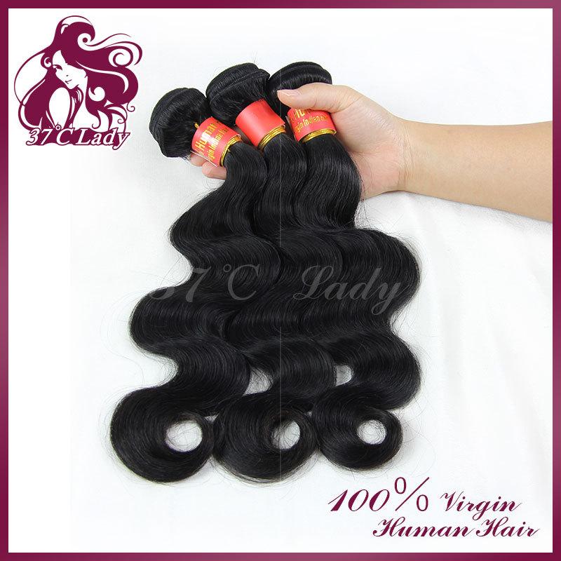 100% unprocessed AAAAAA grade indian hair human hair weave wavy indian virgin hair body wave human hair products 3 pcs/lot(China (Mainland))