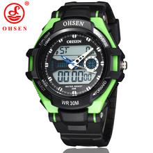 Ohsen hombres relojes deportivos impermeable Casual Outdoor vestido reloj Digital de cuarzo multifuncional militar moda