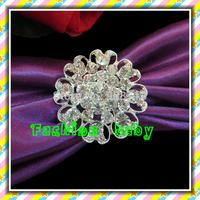 rhinestone flower shape napkin rings for wedding decorations
